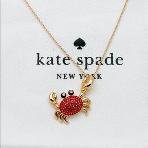"NWT! Kate Spade ""Shore Thing"" Pave Crab Necklace"